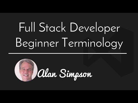 Full Stack Developer Tech Terms Explained