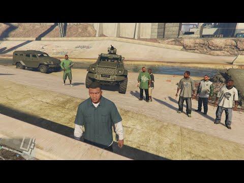 GTA 5 - Gang members (bodyguards) riot