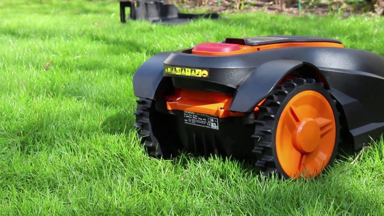 worx landroid roboter-rasenmäher test - youtube