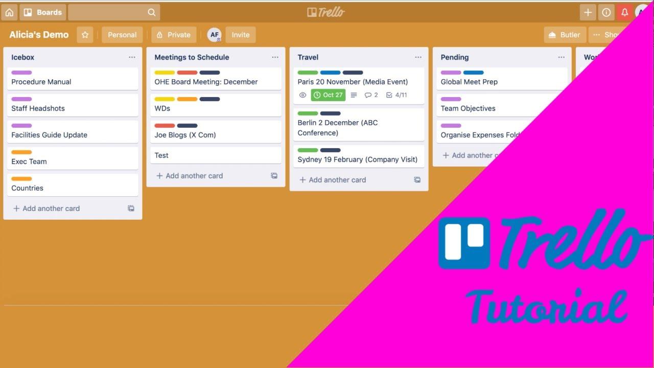 Trello Tutorial   How I use Trello to stay organised as an EA