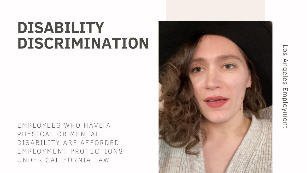 What is disability discrimination in California?