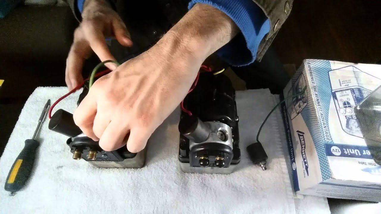 Bennett Trim Tab Pump Battery Wiring Diagram For Boat V351 Hydraulic Solenoid Swap Youtube