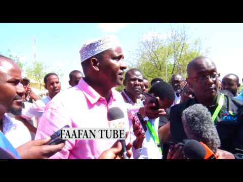 BREAKING NEWS HON.ADEN BARRE DUALE SPOKE TO THE MEDIA AFTER HE HAD VOTED .(MUST WATCH)