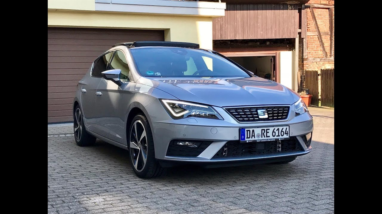 2018 seat leon xcellence 1 8 tsi 180ps dsg urban silver exterior interior look and sound. Black Bedroom Furniture Sets. Home Design Ideas