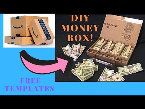 How to make a DIY money box out of cardboard!!! (Updated Video)