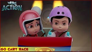 Vir : The Robot Boy | Go Cart Race | 3D Action shows for kids | WowKidz Action