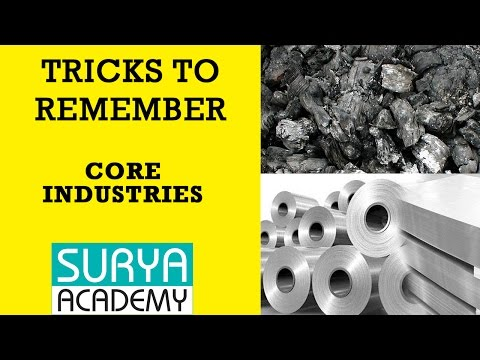 Trick to Remember Eight Core Industries of India
