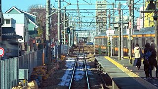 【2020.11】JR青梅線牛浜駅構内線路切換区間前面展望(切換前)