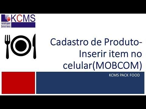 [KCMS PACK FOOD] - Cadastro de item - Utilizar no PDA(celular)