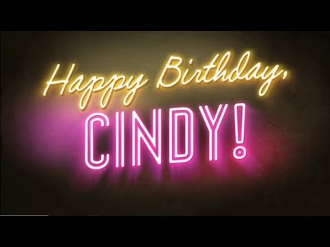 Happy Birthday CIndy 2018