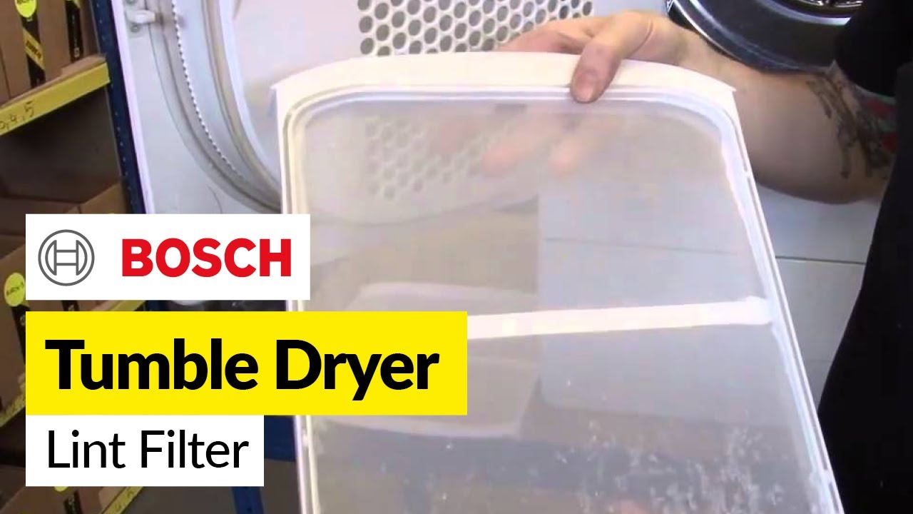 Tumble Dryer Filter ~ How to change the lint filter in a tumble dryer bosch