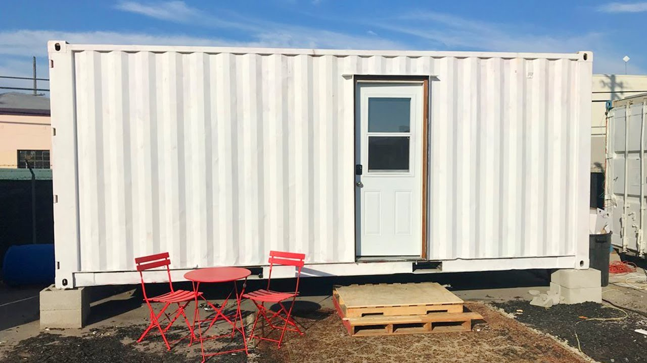 20 Foot Shipping Container Home Lovely Tiny House Youtube