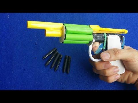 紙を使用してリボルバー銃の作り方6紙の弾丸