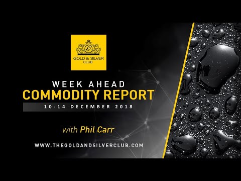 WEEK AHEAD COMMODITY REPORT: 10-14, December 2018: Gold, Sil