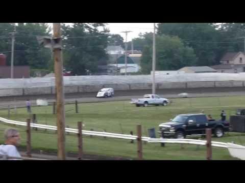 West Liberty Raceway tornado tues mod heat 4 8/6/13