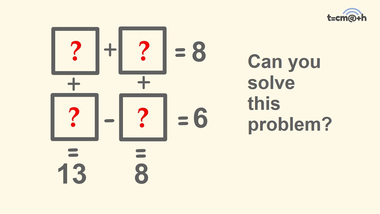 Can You Solve This Tricky Math Problem