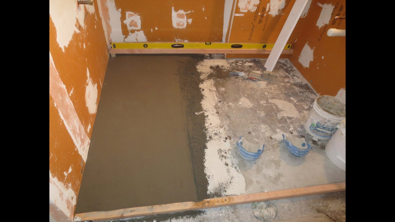 Complete bathroom schluter systems products part 3 installing mud complete bathroom schluter systems products part 3 installing mud base youtube dailygadgetfo Gallery