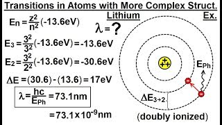 Physics - Ch 66.5 Quantum Mechanics: The Hydrogen Atom (15 of 78) Transition in Complex Structure Ex