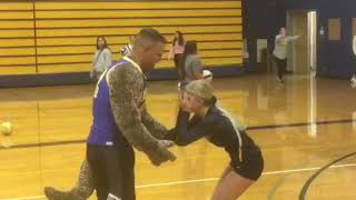 Aberdeen Bobcats volleyball player Abby Baumgardner reunion with military brother-in-law