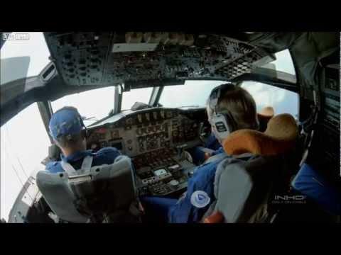 Flying through a hurricane eye