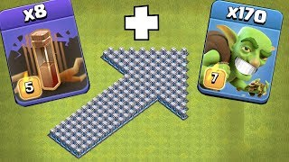 "ThEy TROLLED ME!! ""Clash Of Clans"" all EQ spells on my base!"