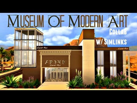 Sims 4 | House Build: Museum of Modern Art (w/ SimlInks)