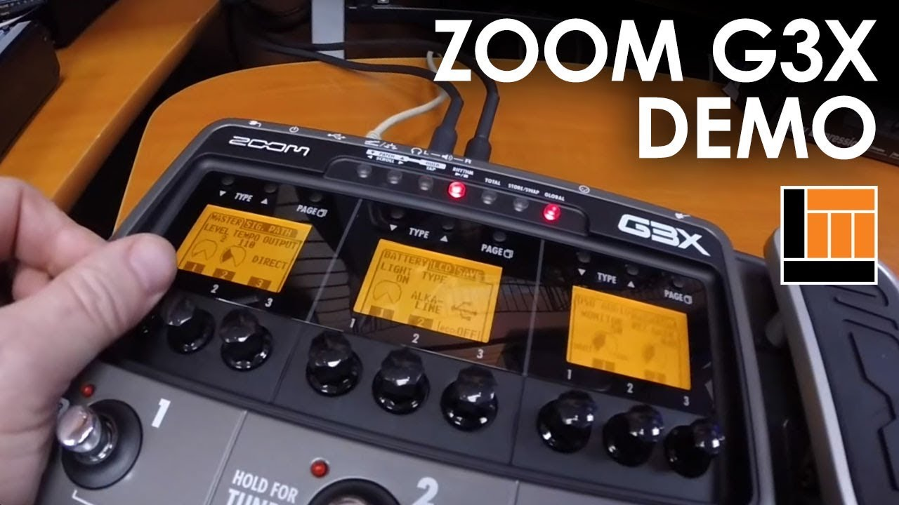 zoom g3x guitar effects amp simulator pedal demo youtube. Black Bedroom Furniture Sets. Home Design Ideas