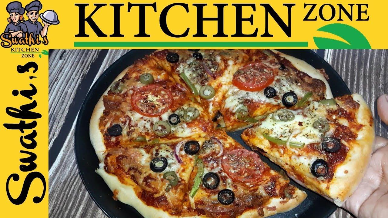 Cheese Burst Pizza Recipe ச ஸ பர ஸ ட ப ட ஸ Dominos Style Cheese Burst Pizza Veg Pizza Recipe Youtube