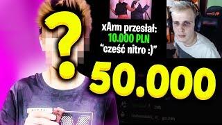 DOSTALI 50 000 PLN i.. mają problemy?  | 3 Największe Donejty | NitroZyniak, Taku, PiranhaSawa