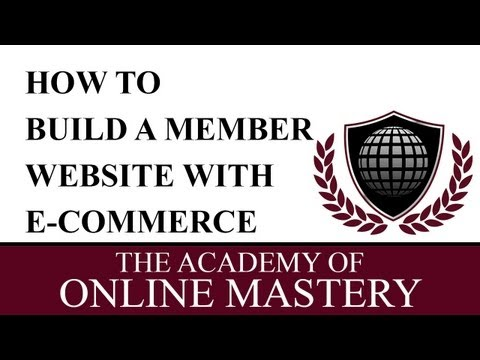 How to build a Membership Website with E-Commerce in Wordpress