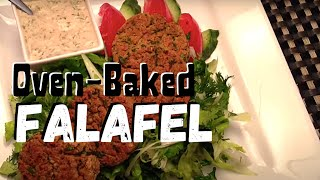 Oven Baked Falafel With Herbed Romaine Salad