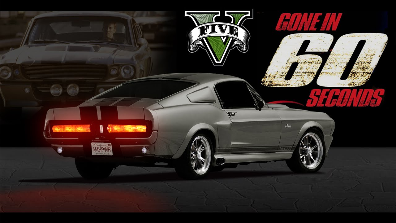 GTA V PC Mods – Gone in 60 Seconds – 1967 Shelby Mustang GT500 Eleanor [DOWNLOAD]