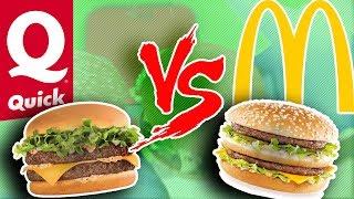 BIG MAC vs MEGA GIANT BEEF : QUICK OU McDo ??