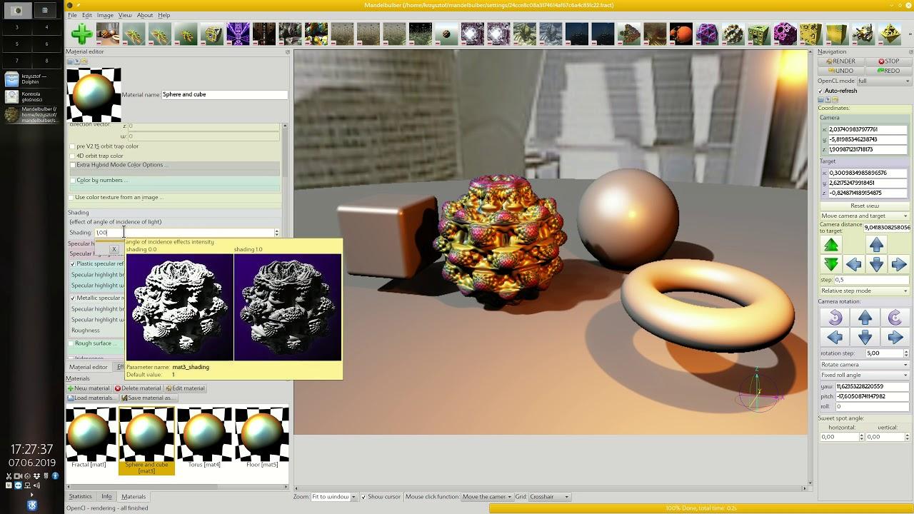 Mandelbulber tutorial part 6 - Material editor - shading