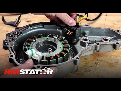 how to install a 1987 2007 kawasaki klr650 stator, voltage regulator Kawasaki KLR 650 Wiring Diagram
