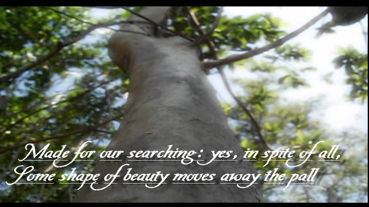A Thing Of Beauty Is A Joy Forever By John Keats Poem Video