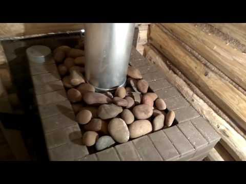 Баня с ТЕРРАСОЙ # Печь в саркофаге # НОВЫЙ проект под ключ