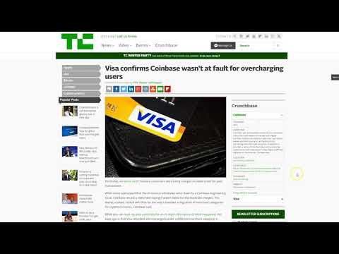 """🔔 Coinbase drama, è colpa della Visa ! """" Tutti dicono blockchain """" in un mare di verde"""