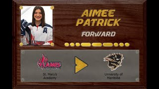 Aimee Patrick - CSSHL to USPORT | Stand Out Sports Client Hall of Fame