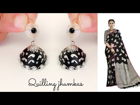 Quilling jhumkas/making matching jhumkas/unique paper jhumkas /quilling jewelry
