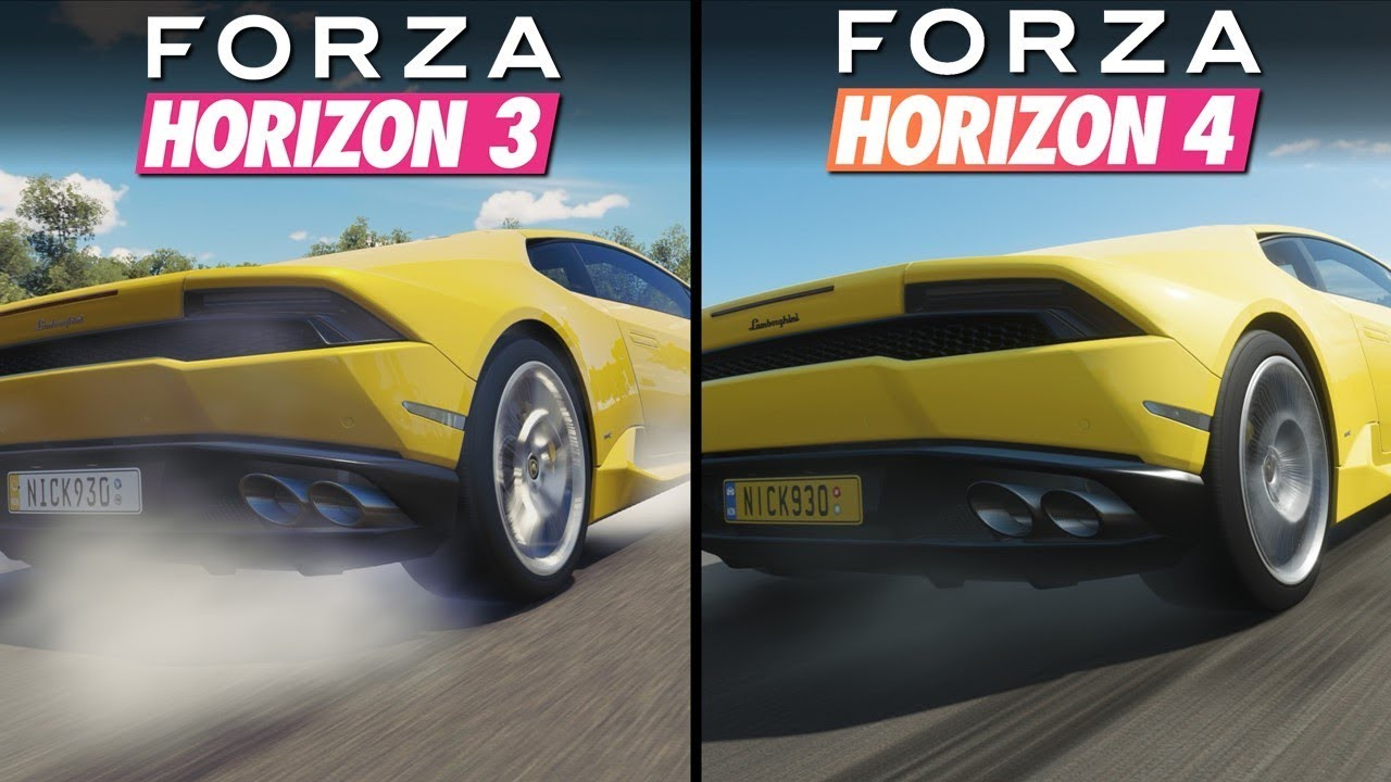 Forza Horizon 4 vs Forza Horizon 3 | Direct Comparison
