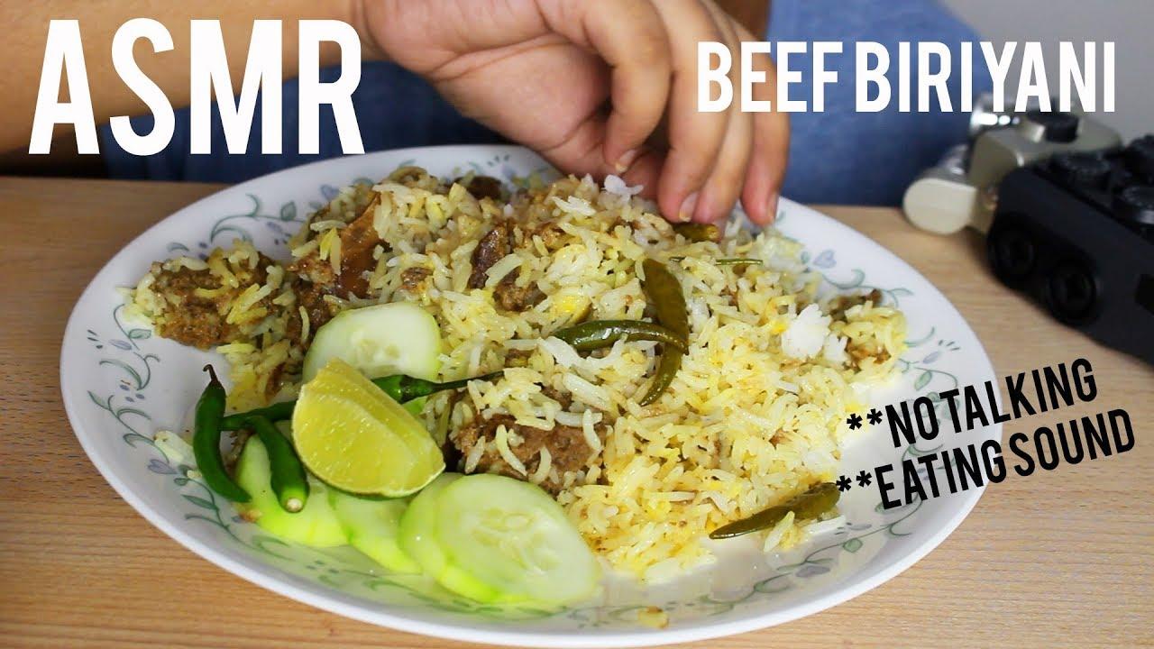 ASMR : Beef Biriyani   Mughal Food   No Talking   ASMR HUNGRY BITES
