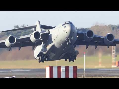 Boeing Globemaster C-17s - Prestwick Airport