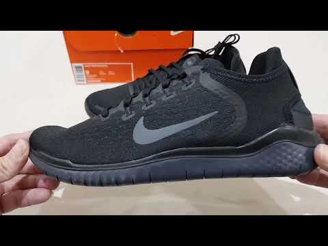 Unboxing NIKE FREE RN RUN 2018 TRIPLE BLACK BEST RUNNING SHOES (100% ORIGINAL & RESMI) ANTI KW!!!