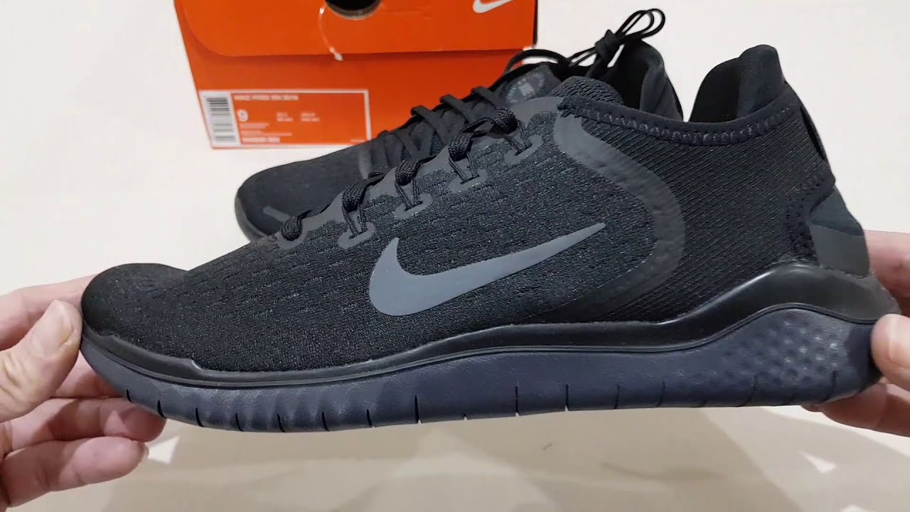 b0040c96bab Unboxing NIKE FREE RN RUN 2018 TRIPLE BLACK BEST RUNNING SHOES (100%  ORIGINAL & RESMI) ANTI KW !!!