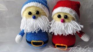 мк Санта Клаус крючком//Дед Мороз//Santa Claus часть 1//Valentinka B.
