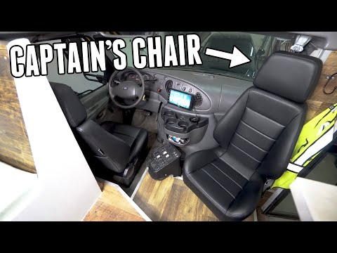Adventure Bus Gets QUICK RELEASE, ROTATING, CAPTAIN CHAIRS!