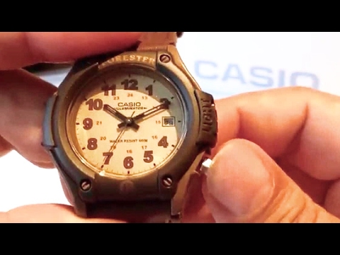CASIO brown FT500WVB-5BV Forester Sport Watch with backlight review