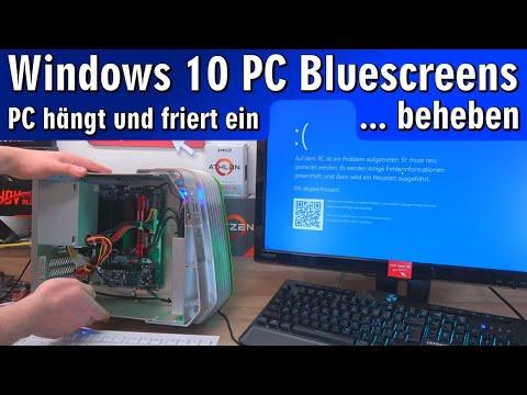 Windows 10 Bluescreen Pc Hangt Friert Ein Sturzt Ab Reparieren Youtube