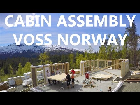 Cabin assembly in Voss, Norway